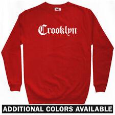 Crooklyn Gothic Brooklyn Sweatshirt - NYC Hip-Hop Rap Nets Crewneck - Men S-3XL