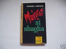 SIMENON, MAIGRET SI SBAGLIA mondadori - I edizione 1956