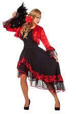 Damenkostüm Spanierin mit Blumenhaarschmuck Karnevalkostüm Faschingskostüm