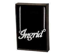 Nome Collana Ingrid – 18K Placcati Oro A Catena Personalizzato Idea Regalo Per