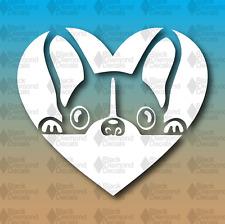 "French Bulldog Love Heart Frenchie 5"" Custom Vinyl Decal"