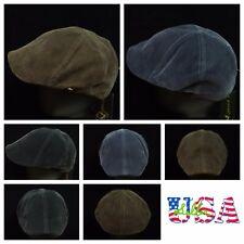 f309f6ebbe4 Men s Corduroy Ivy Hat Newsboy Hats Fashion Gatsby Cap Gray Golf Flat Cabbie