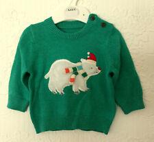 Baby M&S Sizes 0-3, 3-6, 12-18 Months Christmas/Winter Polar Bear Jumper Bnwt