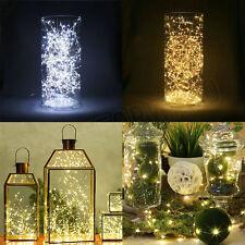 20/30/ 40/50/100 Guirnalda luces led alambre de cobre cadena de luces