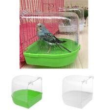 Plastic Bird Bathtub Clean Box Toy Accessory Outside Clip-On Bird Bath