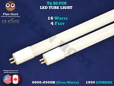 T5 Nano LED TUBE LIGHT 16 WATT 4 FT Fluorescent Replacement Milky lens 6500K