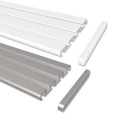 Gardinenschienen / Alu-Schienen in Aluminium weiß o. alufarbig, 3- u. 4 -läufig