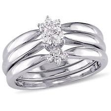 Amour 2/5 CT TW Diamond 3-Piece Bridal Set in 14k White Gold