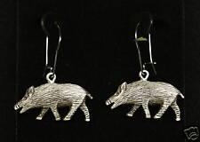 Pewter Boar/ Hog Dangle Earrings by Empire Pewter