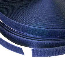 20 mm alta calidad Azul Marino Gancho cinta tiras Sujetador Coser 1m H330