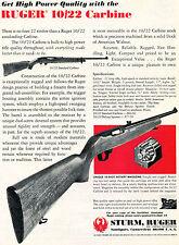 1974 Print Ad of Sturm Ruger 10/22 Standard Carbine Rifle w Rotary Magazine