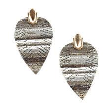 Suede Feather Drop Earrings, 2-Inch