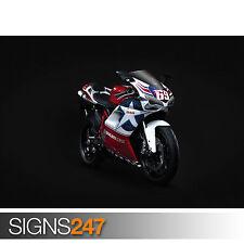 DUCATI 848 SPORTS BIKE (1544) Motorbike Poster - Poster Print Art A1 A2 A3 A4