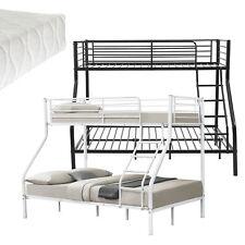Kinder Etagenbett Stockbett Hochbett Metall Bettgestell + Matratze 200x140/90cm