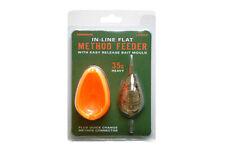 DRENNAN FISHING IN-LINE FLAT METHOD FEEDER & MOULD LARGE - 25g or 35g