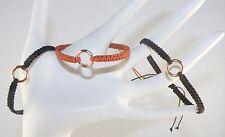 Handmade Knotted Cord Macrame / Macramé Art String Bracelet / Wristlet Unisex
