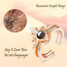 Ted Baker cadyna De Cristal De Oro Rosa Conjunto de 3 anillos del círculo con caja de regalo talla M//L