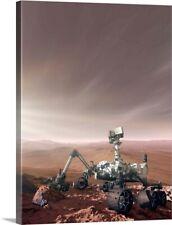 Mars Rover Curiosity Canvas Art Print