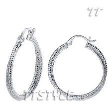 High Quality TT 18K White Gold Plated Large Hoop Earrings Womens (ED102)