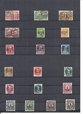 Deutsches Reich 1920, verschiedene Einzelmarken aus MiNrn: A 113 - 133 o,