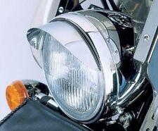 """5.75"""" CHROME HEADLIGHT VISOR for Harley Davidson"""