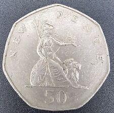 GB 1969 To 1997 QE II Cupronickel Large Decimal 50p- Choose Your Date