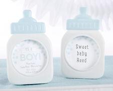Blue Boy Birthday Baby Shower Bottle Photo Frame Favor Keepsake Gift 25 50 75