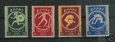 GREECE # 421-4 MNH Pan-Balkan Games 1939 Summer Sports
