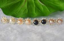 8-9mm Natural Akoya Pearl Earring 4 Colors & Crystal Rhinestone Earrings AAA