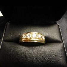 1.20 Ct Mens Diamond Ring Five Stone Wedding Band Jewelry 14K Yellow Gold Over