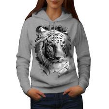 White Tiger Head Women Hoodie NEW   Wellcoda