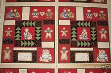 "Grandma's Gingerbread Dianna Marcum Christmas Fabric Block 23"" Panel"