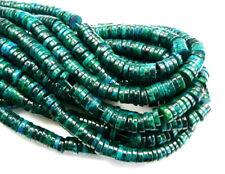 Chrysocolla heishi disc rondelle 6x2 8x2 10x2 8x5mm green blue gemstone beads