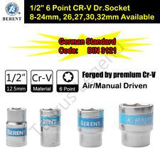 "1/2"" Dr. Socket 6 Point Metric Chrome Vanadium Drive Socket German Standard"