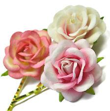 Vintage Boho FLOWER ROSE Hair Clip Grip Wedding Festival Dance Prom Party