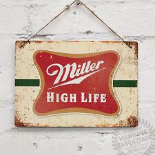 Miller High Life Vintage Métal Mural Signe Plaque Rétro Pub Bar MANCAVE Cuisine