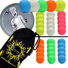 Frullato di 5x (UV) Pro in pelle tonfo giocoleria palline set di 5 + Palla DVD + BAG