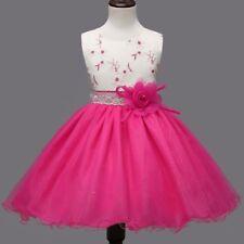 Mädchen Kinder Spitze Kommunion Hochzeit Rock Kleid Ballkleid Party Abendkleid