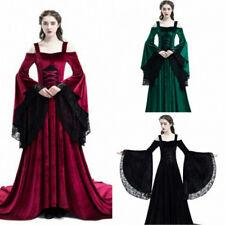 Vintage Lace Velvet Court Dresses Flare Sleeves Spaghetti Strap Baroque Princess