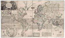 Istencils 5x5 inch stencil world map ebay old vintage antique world decorative map moll ca 1732 gumiabroncs Gallery