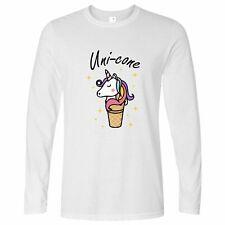 Fantasy Joke Long Sleeve Uni-Cone Ice Cream Unicorn Pun Mythical Funny Cute