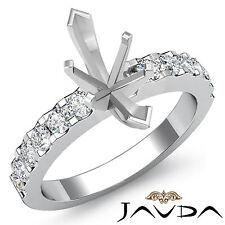 Prong Setting Diamond Engagement Ring Marquise Semi Mount 14k White Gold 0.47Ct