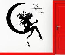 Wall Sticker Vinyl Decal Girl Fairy Moon Star Dreams Teen Decor  (z1082)