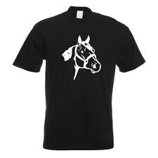 Pferdekopf - Reiten - Dressurpferd T-Shirt Motiv bedruckt Funshirt Design Print