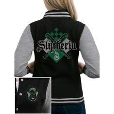 Womens Harry Potter Slytherin Crest Varsity Jacket - Ladies Hogwarts Baseball