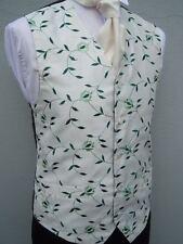 diseño hombre blanco y verde VID Hoja Chaleco para traje de novio