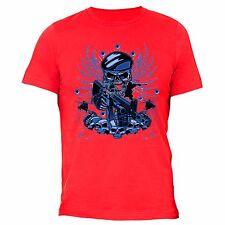 Skull Gun Sniper T-Shirt 4th of july clothes Fourth Army American USA Tshirt