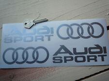 AUDI Sport Car Stickers 250mm Par Corte trajes Quattro GT 100 TT S6 S8 S5 S4 S3 S7