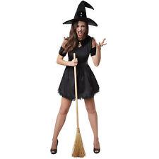 Kostüm Damen Hexe Witch Zauberin Magierin Kleid Hut schwarz Fasnacht Karneval
