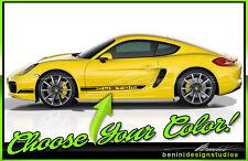 2005-2012 2013 2014 and up 2018 Porsche Cayman Boxter Door Rocker Stripes